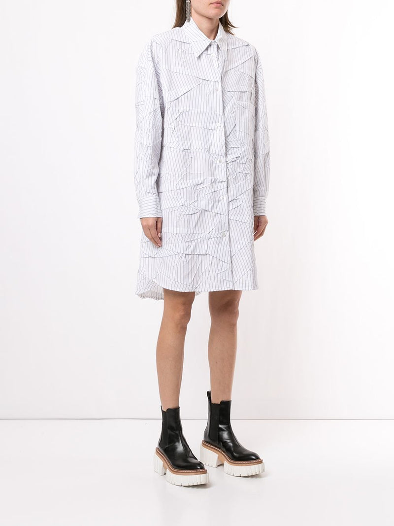MM6 WOMEN OVERSIZED WRIKLE SHIRT
