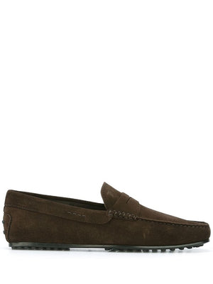TOD'S MEN GOMMINO DRIVING SHOES SUEDE
