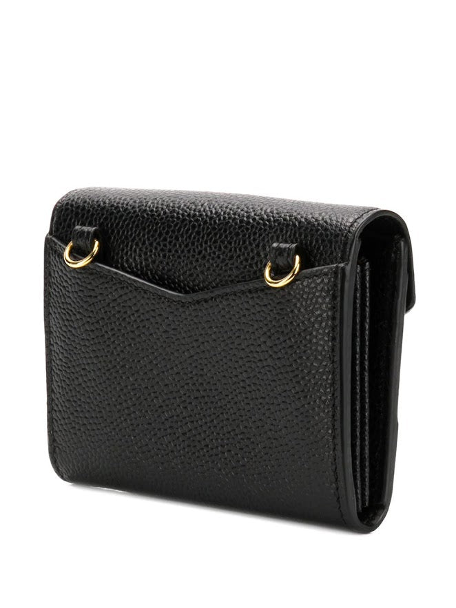 THOM BROWNE WOMEN ENVELOPE SHORT WALLET IN PEBBLE GRAIN
