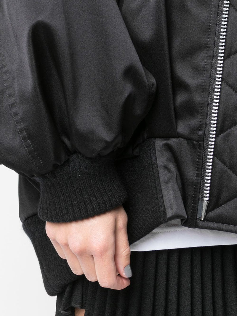 UNDERCOVER WOMEN PLEATED BACK BOMBER JACKET