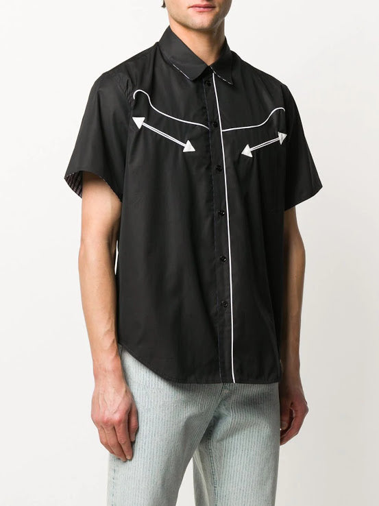 MARTINE ROSE MEN S/S REVERSIBLE SHIRT