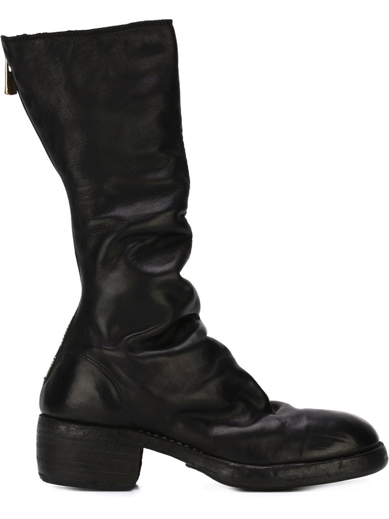 GUIDI WOMEN 789Z CLASSIC TALL BACK ZIP BOOT BLKT