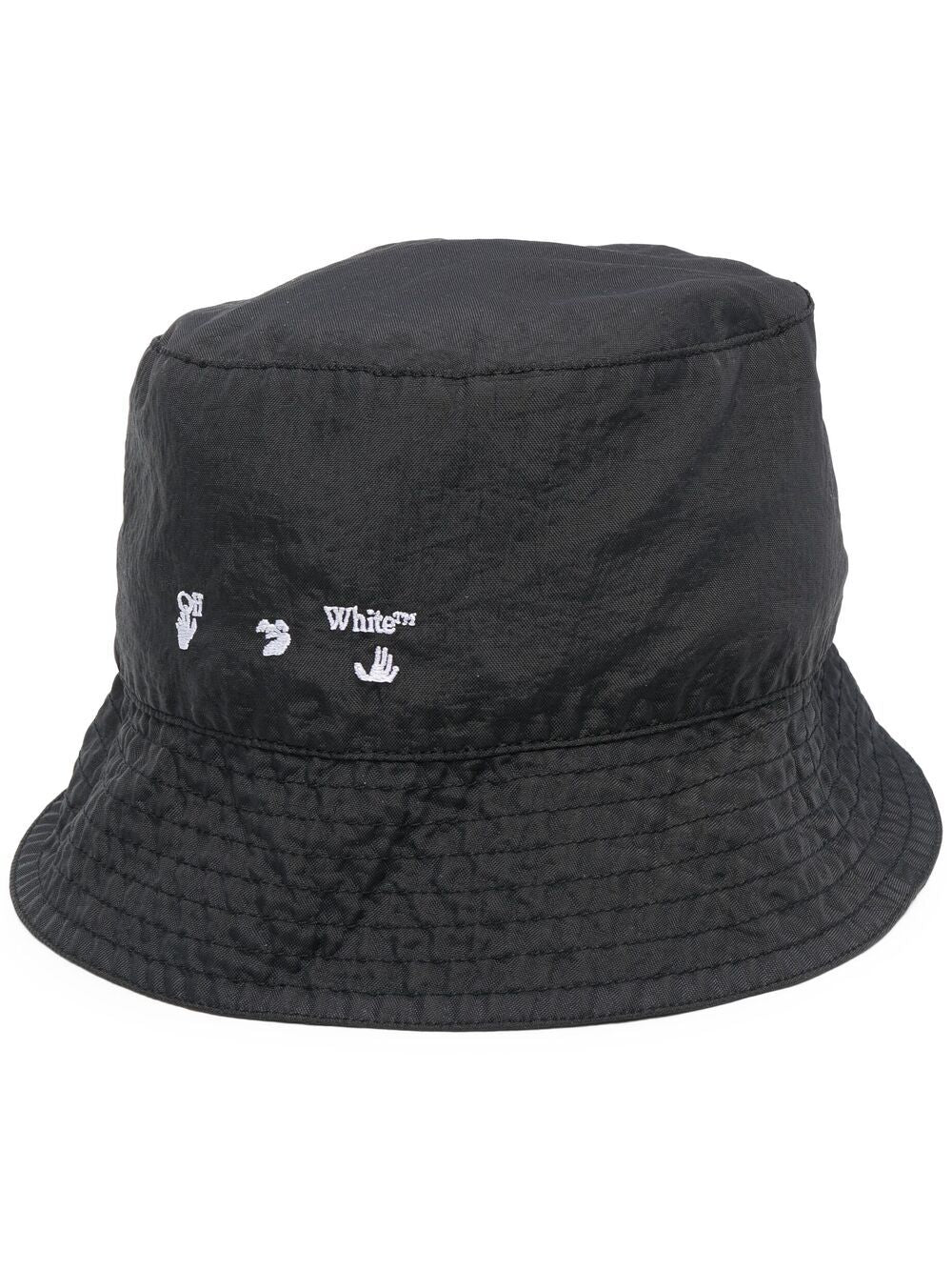 OFF-WHITE MEN OW LOGO BUCKET HAT