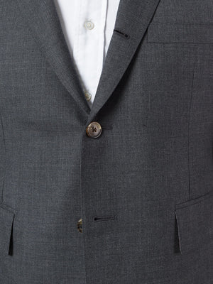 THOM BROWNE MEN CLASSIC SUIT SET WITH TIE IN SUPER 120��S TWILL