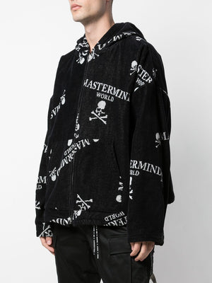 MASTERMIND WORLD MEN ALL OVER LOGO ZIP HOODIE