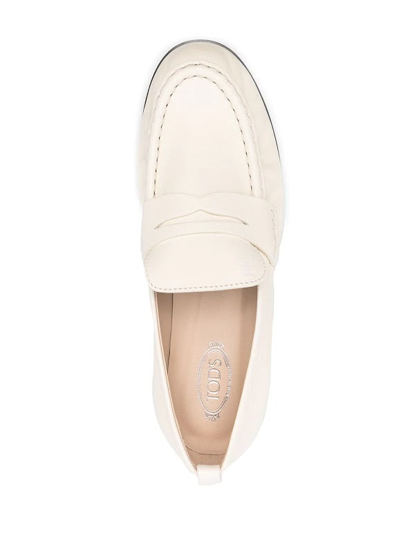 TOD'S WOMEN SHINY LEATHER LOAFERS