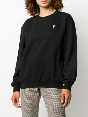 OFF-WHITE WOMEN FLOCK ARROW REG CREWNECK