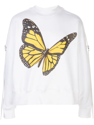 PALM ANGELS MEN TAPEBUTTERFLY CREWNECK