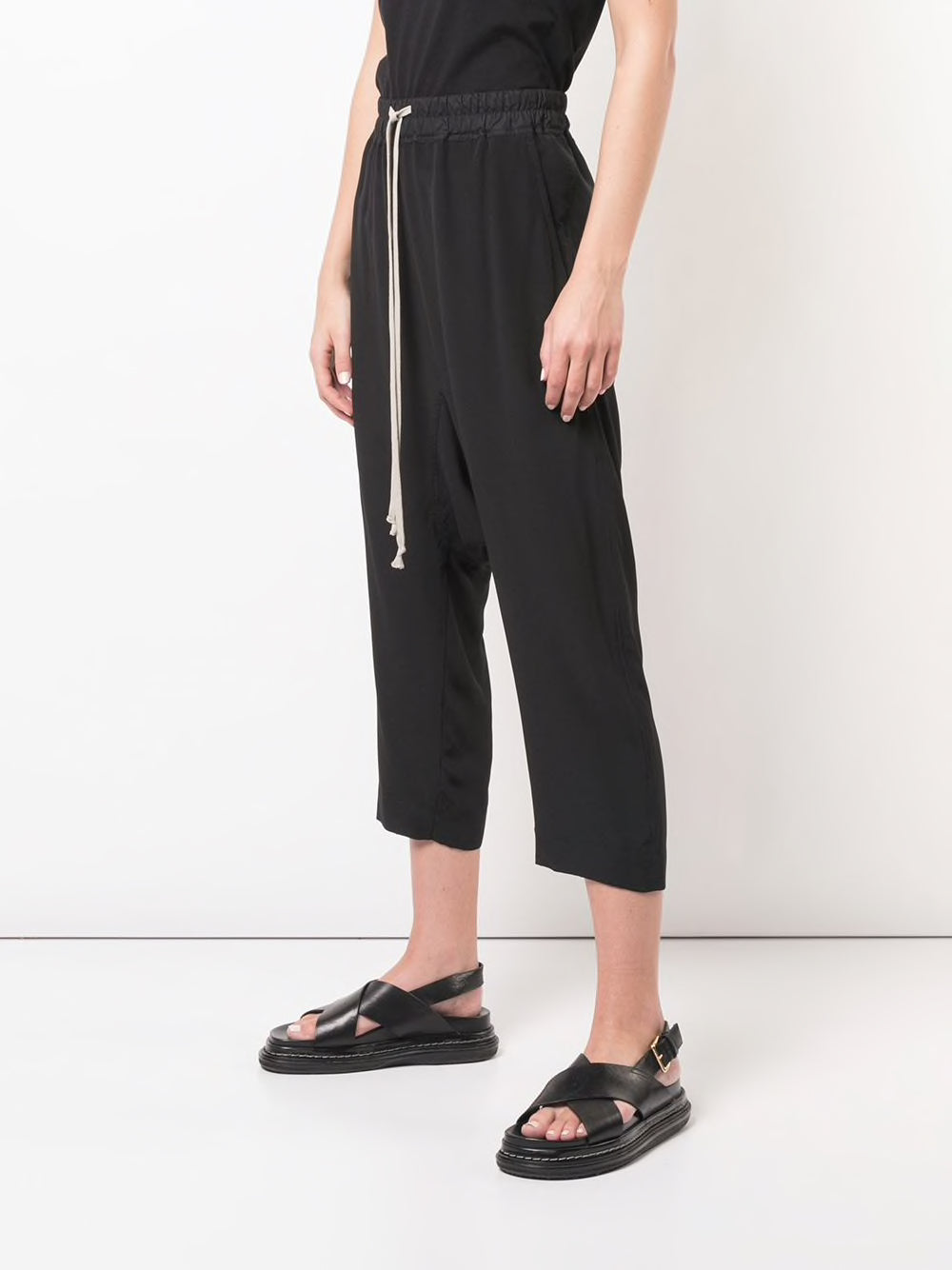 RICK OWENS WOMEN DRAWSTRING CROPPED PANTS
