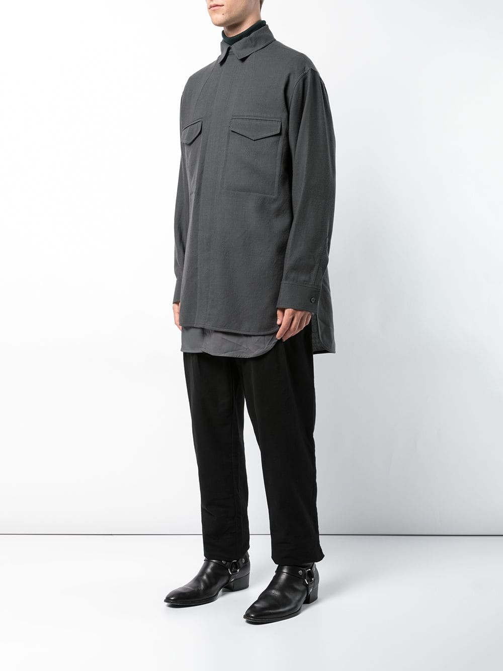 HAIDER ACKERMANN MEN DOUBLE LAYER SHIRT 184-3606-435-070
