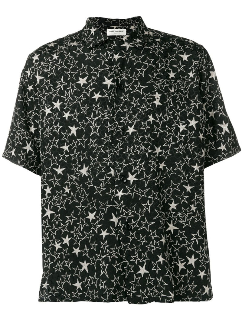 SAINT LAURENT MEN STAR PRICE SHORT SLEEVE SHIRT