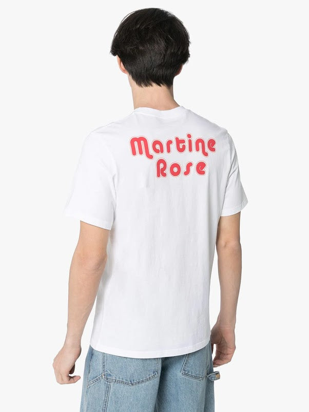 MARTINE ROSE MEN T-SHIRT WITH CLOWN ARTWORK