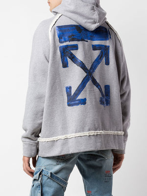 OFF WHITE MEN ACRYLIC ARROWS INCOMP HOODIE