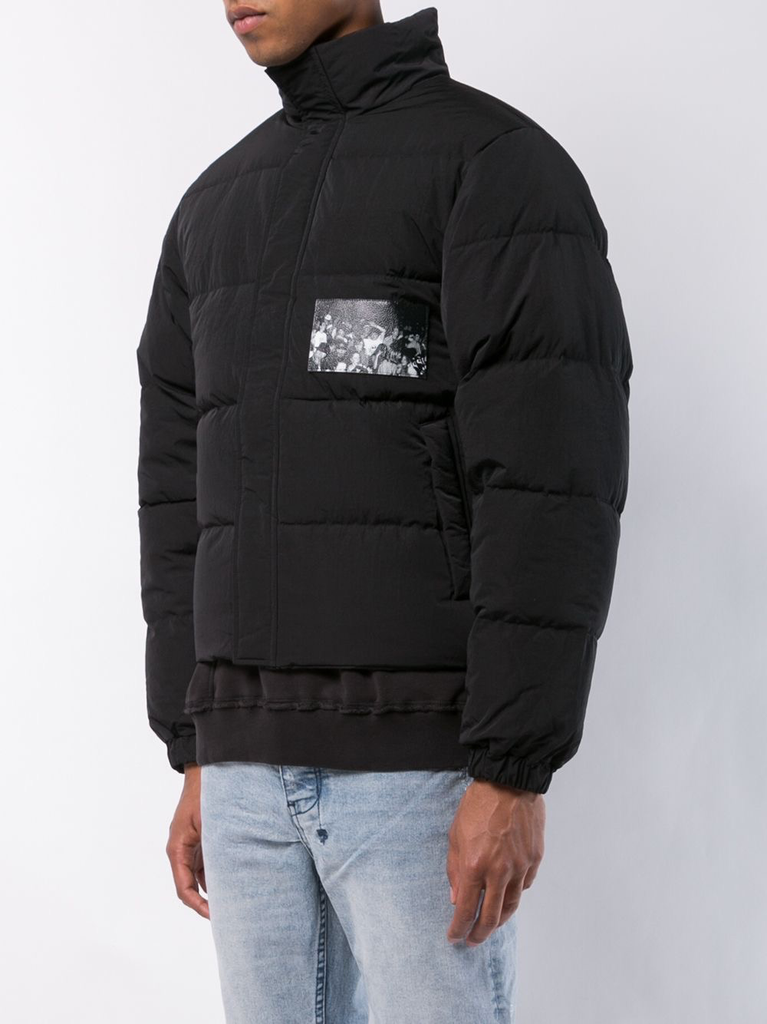 MISBHV MEN VERY BLACK RAVER DOWN JACKET