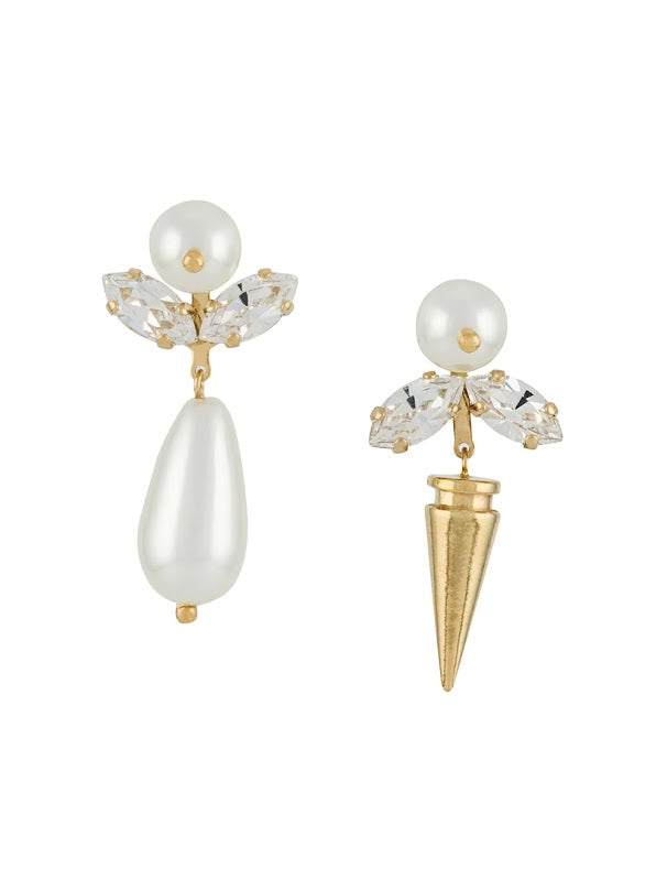 SIMONE ROCHA WOMEN SMALL PEARL & SPIKE EARRING