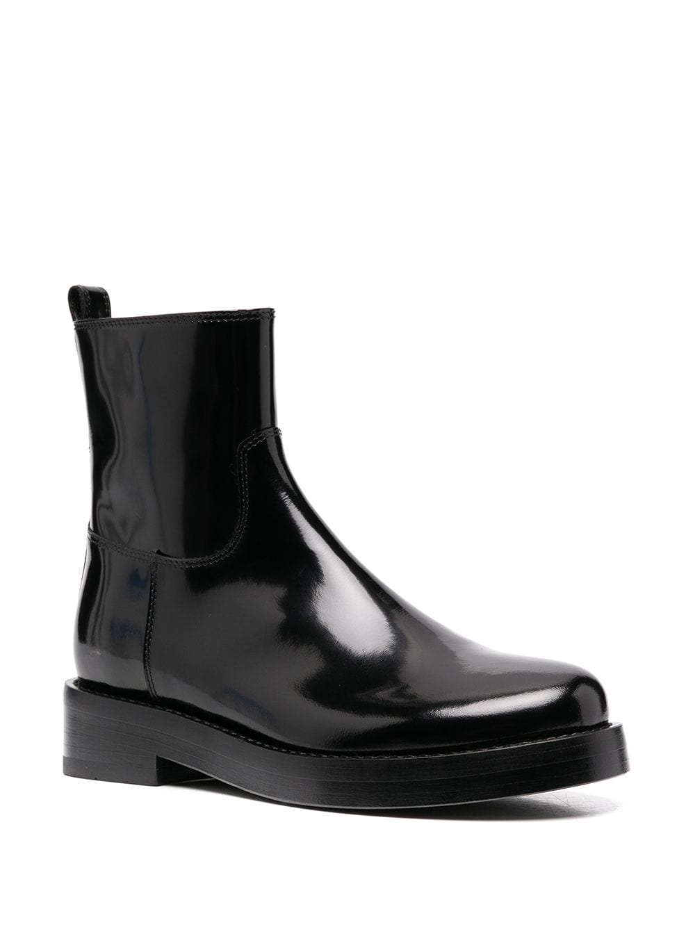 ANN DEMEULEMEESTER WOMEN ANKLE RIDING BOOTS PATENT LEATHER