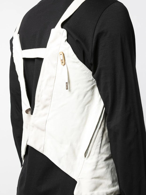 BORIS BIDJAN SABERI KANGAROO LEATHER VEST