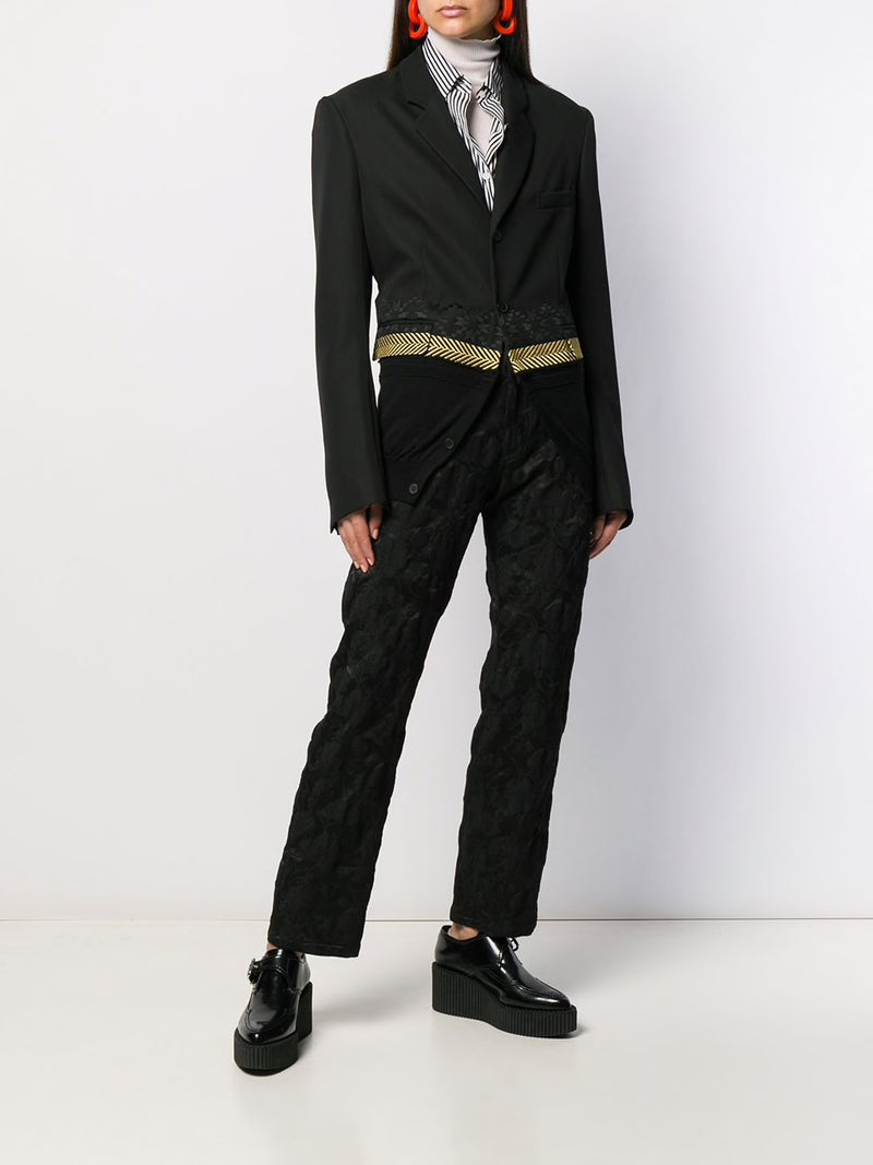 HAIDER ACKERMANN UNISEX EMBROIDERED KNITTED HEM BLAZER