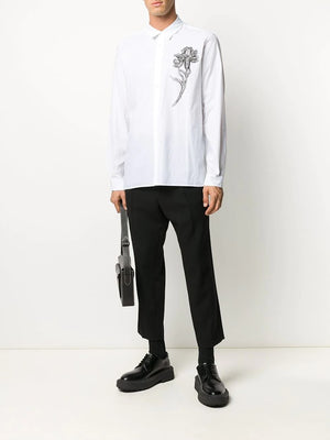 ANN DEMEULEMEESTER MEN FLOWER PRINT SHIRT