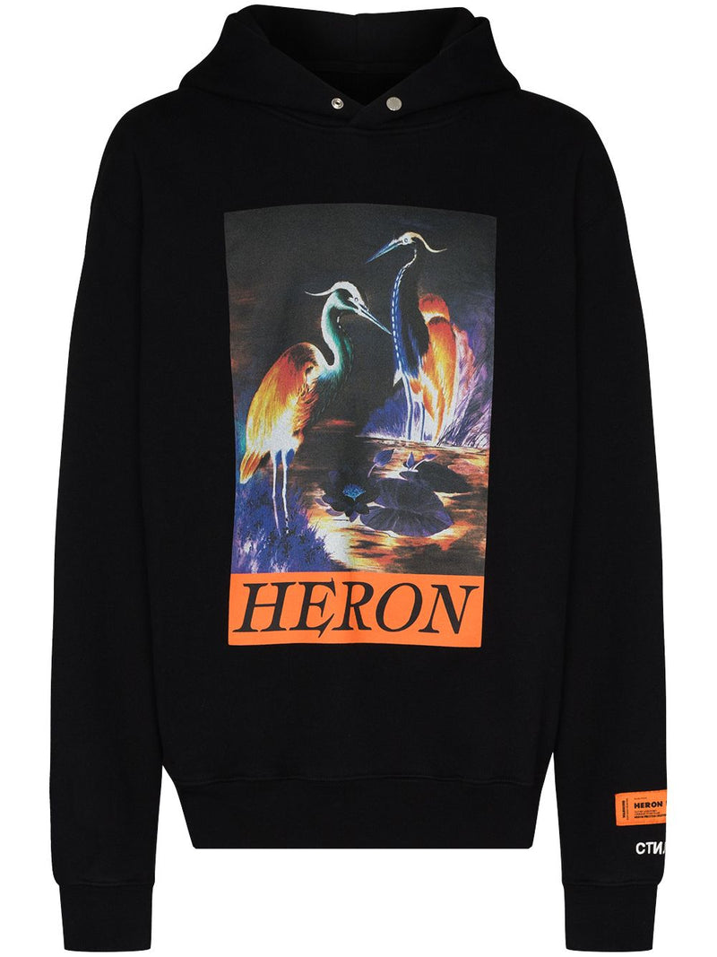HERON PRESTON MEN HOODIE PLAIN HERON TIMES