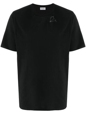 SAINT LAURENT MEN HEART LOGO T-SHIRT