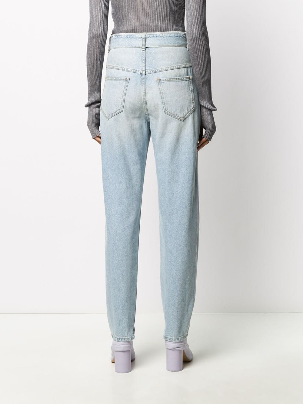 MAISON MARGIELA WOMEN BELTED JEANS WITH SLIT