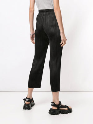 PLEATS PLEASE ISSEY MIYAKE WOMEN PLEATED STRAIGHT LEG PANTS