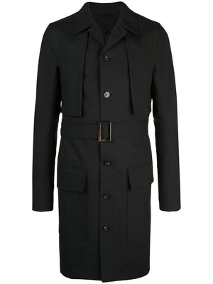 RICK OWENS MEN NARROW TRENCH CAPE