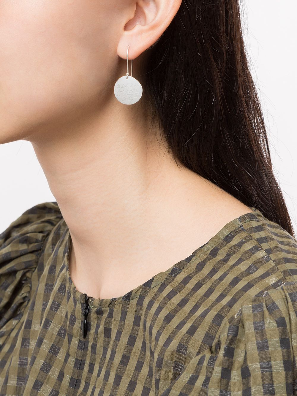 UMA WANG X DETAJ ROUND LUNA EARRING WITH HAND CARVED MESSEGE