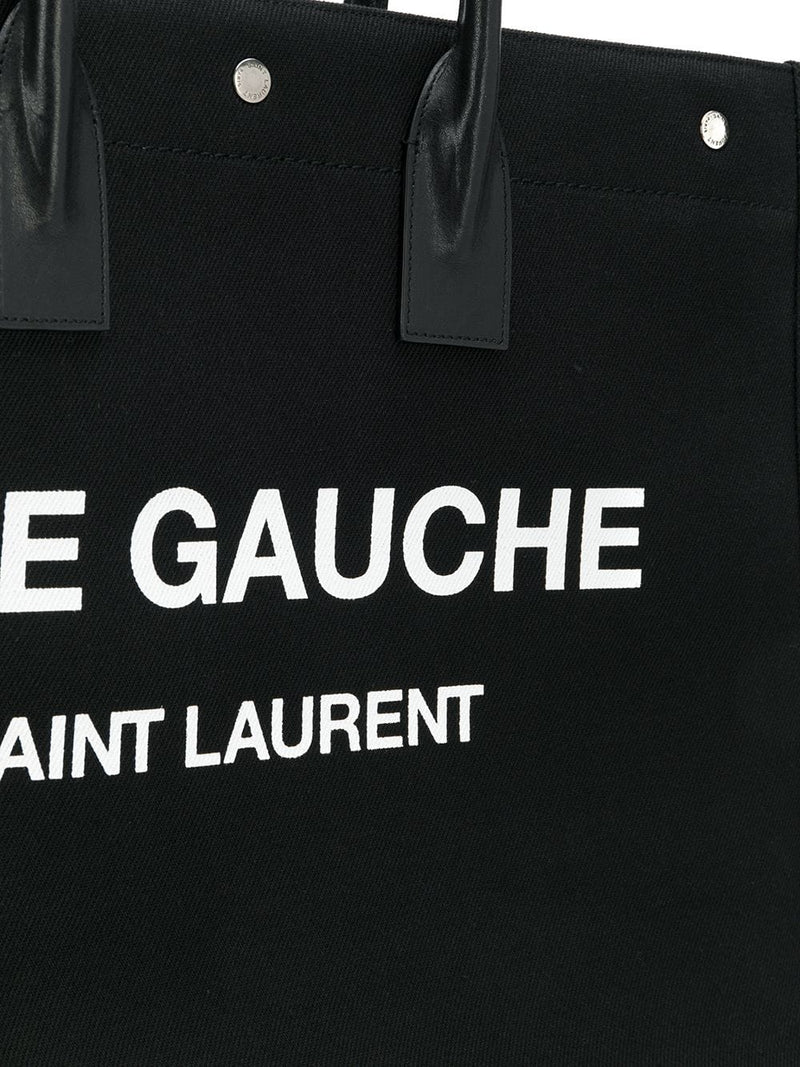 SAINT LAURENT CANVAS LOGO TOTE BAG