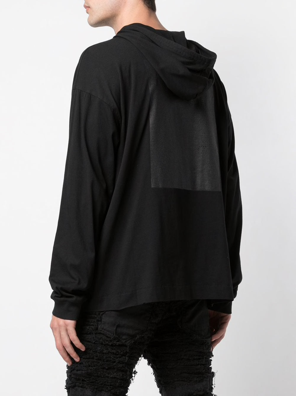 1017 ALYX 9SM MEN HOODED TEE W/RUBBER PATCH AND PRINT