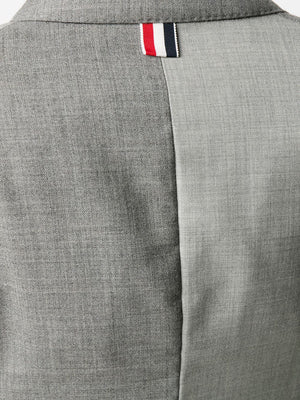THOM BROWNE WOMEN HIGH ARMHOLE SPORT COAT W/ ARMBANDS IN FUNMIX 2PLY FRESCO