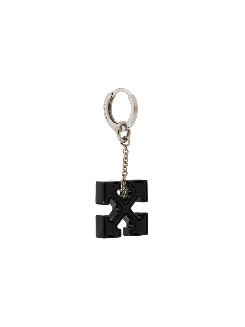 OFF-WHITE ARROW CROSS EARRING