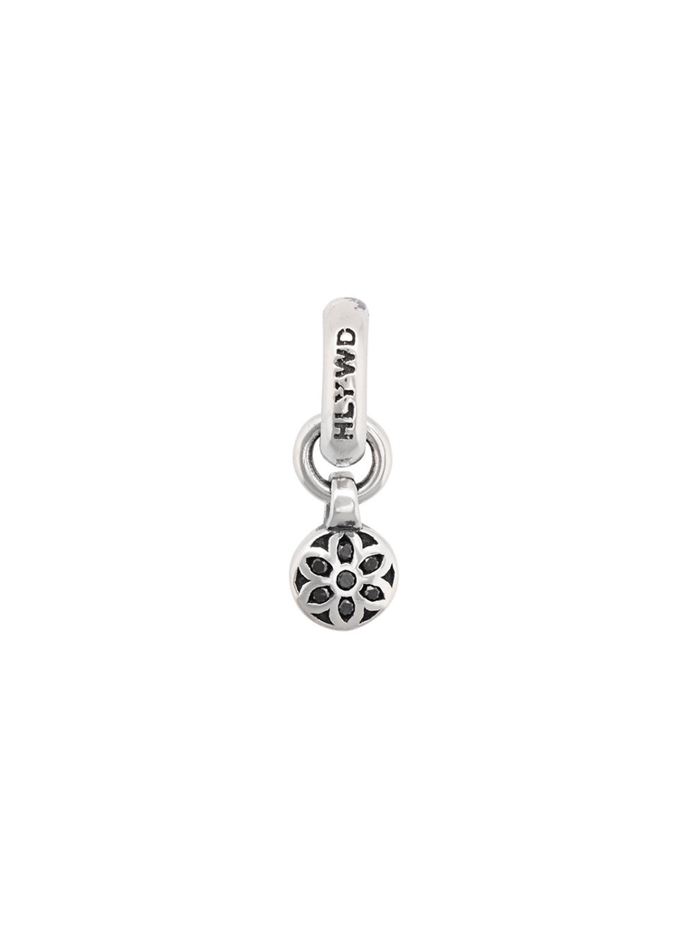 GOODART HLYWD MINI ROSETTE PENDANT WITH BLACK DIAMONDS