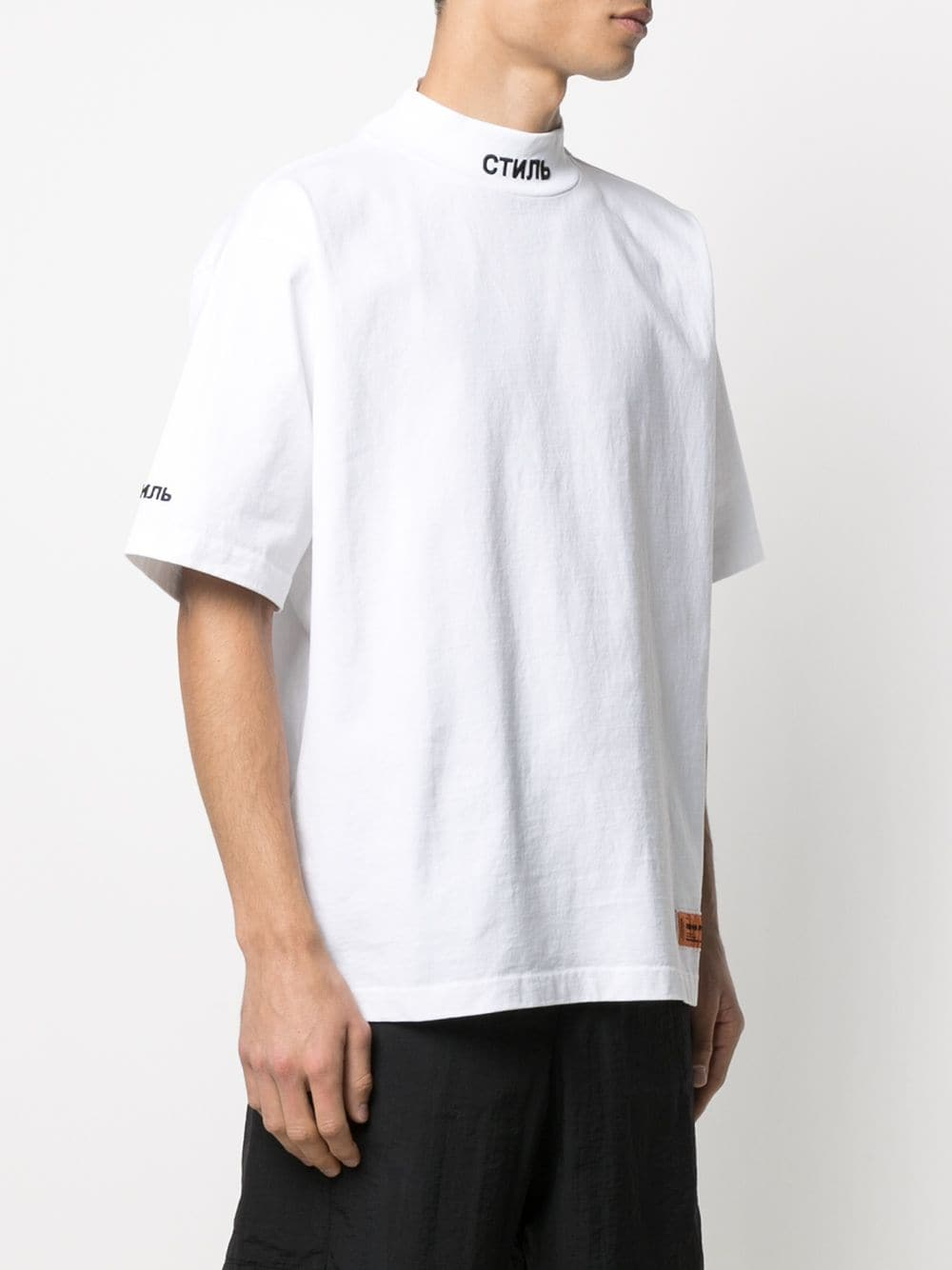 HERON PRESTON MEN SS TURTLENECK CTNMB WHITE BLACK