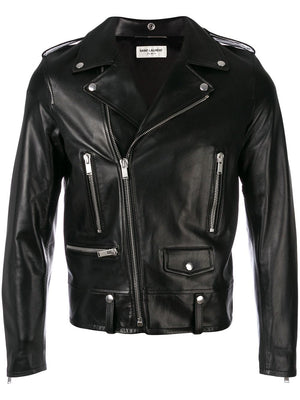 SAINT LAURENT MEN CLASSIC MOTORCYCLE JACKET
