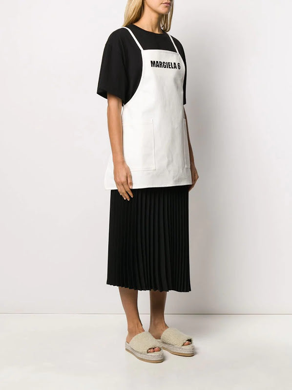 MM6 WOMEN LOGO SHORT APRON DRESS