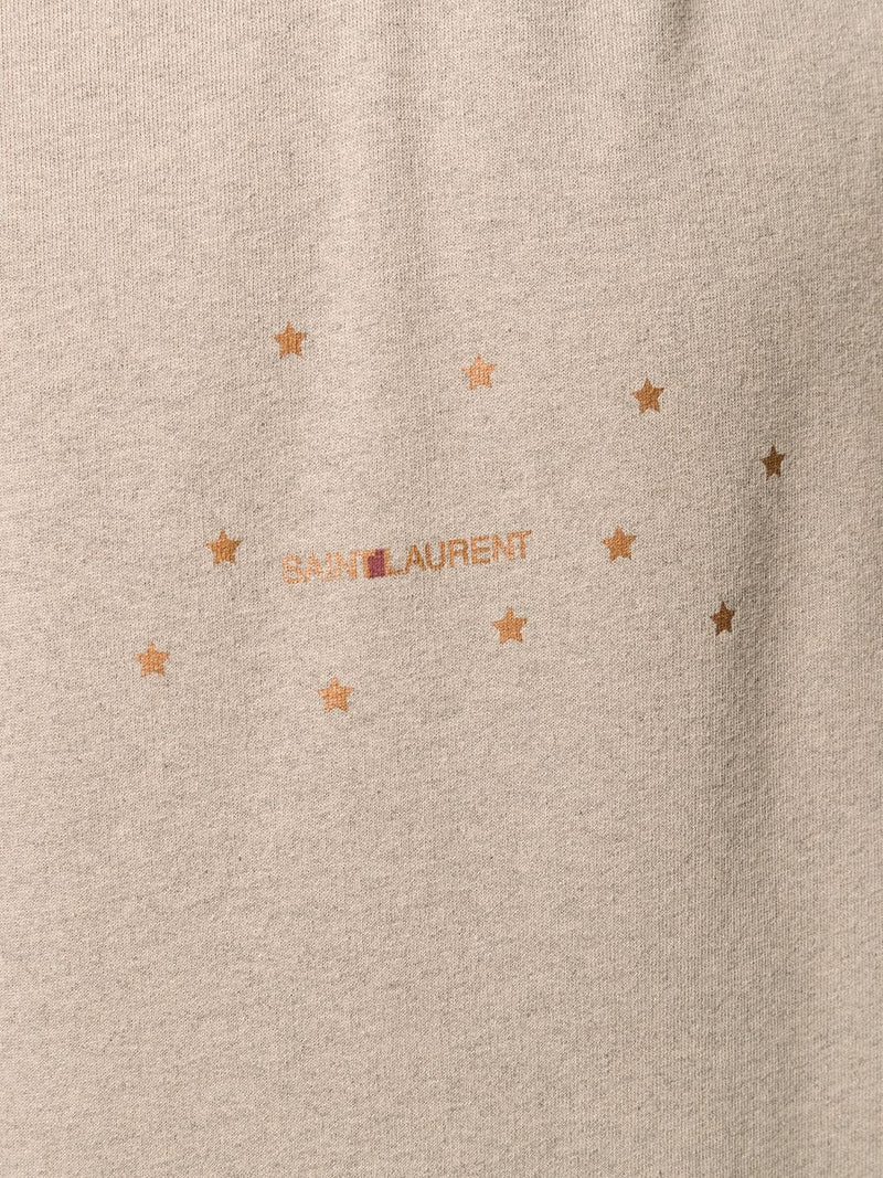 SAINT LAURENT MEN STAR LOGO HOODIE