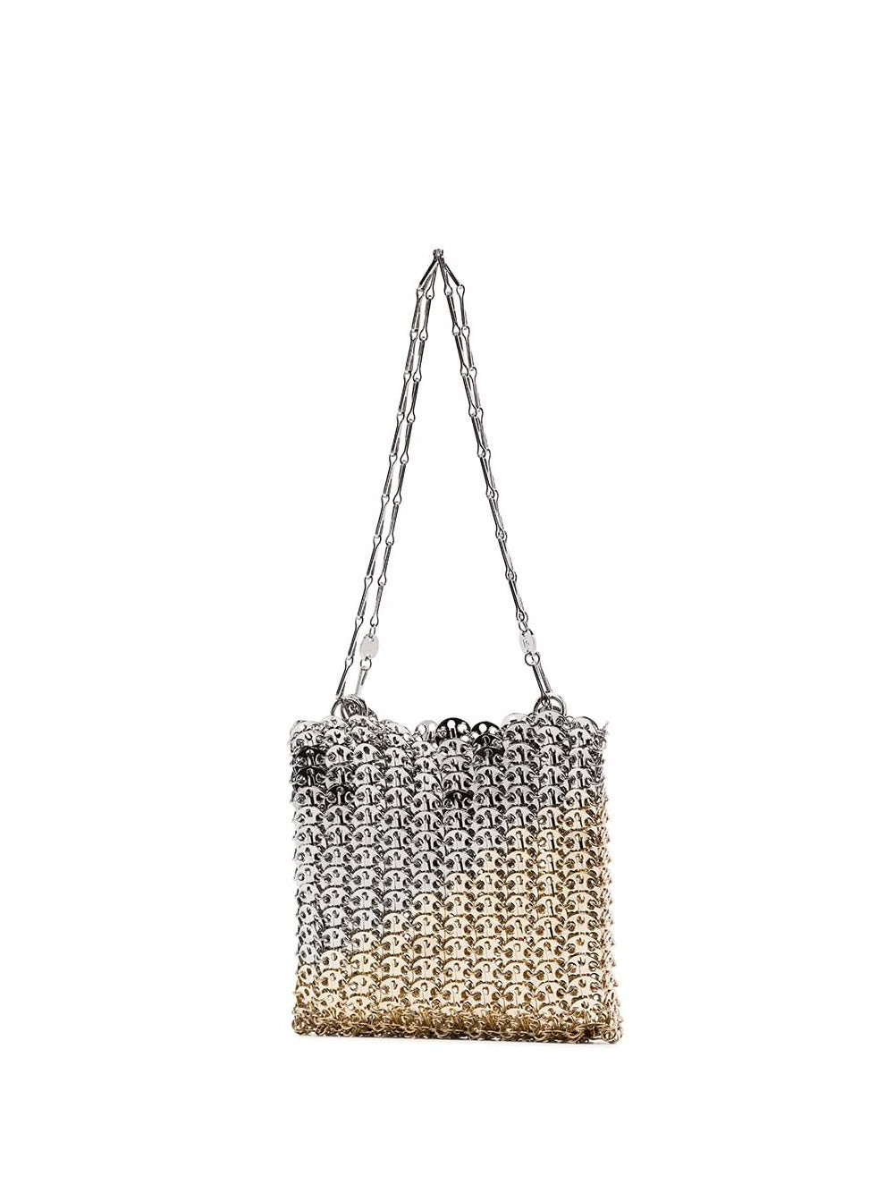 PACO RABANNE WOMEN 1969 ICONIC METALLIC DISC BAG