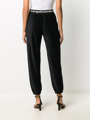 T BY ALEXANDER WANG WOMEN STRETCHY CORDUROY PANT WITH LOGO ELASTIC BAND