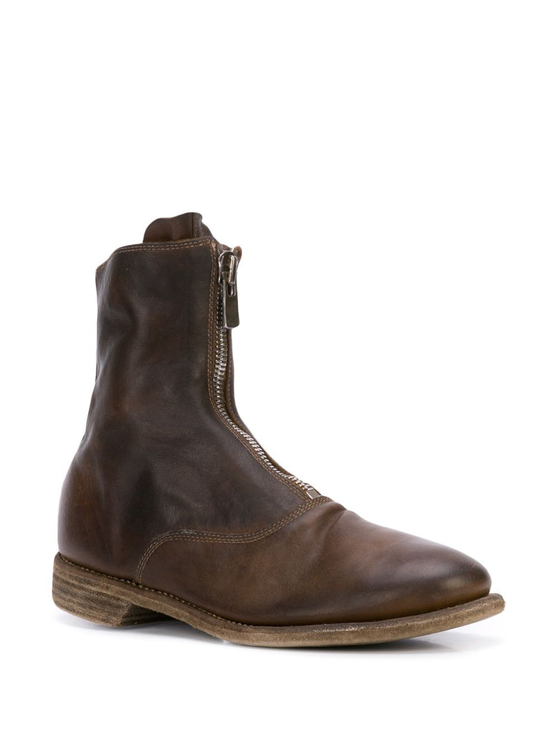 GUIDI WOMEN 210 SOFT HORSE LEATHER FROM ZIP MILITARY BOOTS