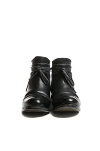 LAYER-0 MEN HORSE FG SIDE ZIPPED ANKLE BOOTS