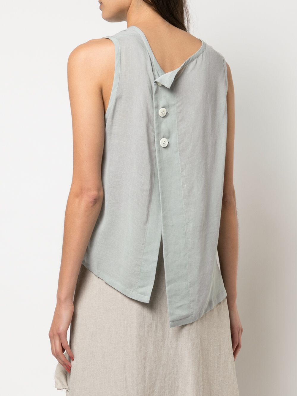Y'S WOMEN FRONT LAYER BIG BLOUSE