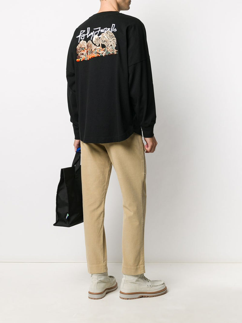 PALM ANGELS MEN DESERT SKULL EMB TEE L/S