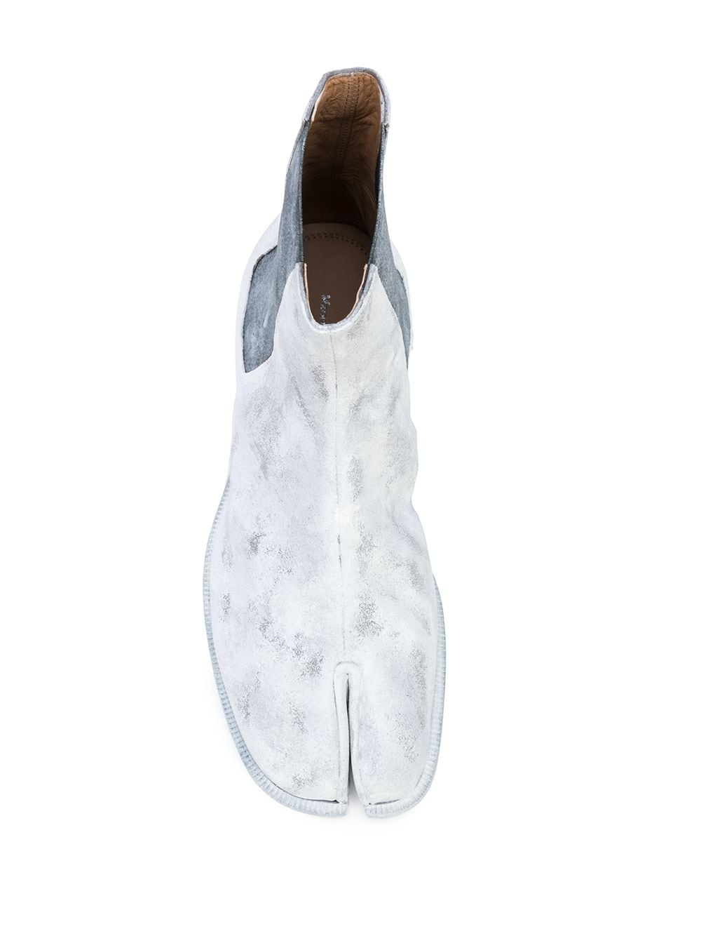 MAISON MARGIELA MEN WHITE PAINTED TABI CHELSEA BOOTS