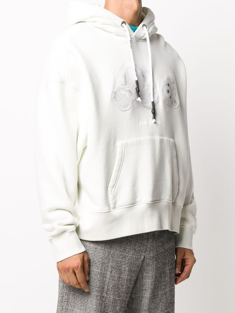 PALM ANGELS MEN ICE BEAR HOODIE