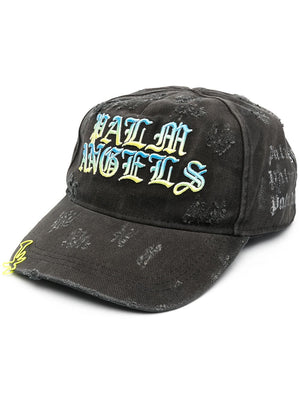 PALM ANGELS HUE GOTHIC LOGO CAP