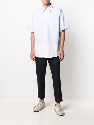 AMI MEN CROPPED FIT TROUSERS