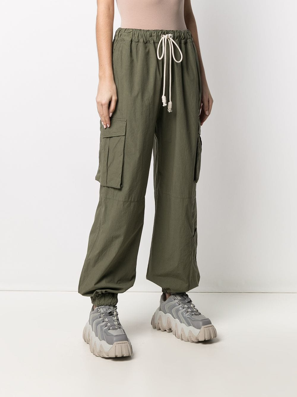 PALM ANGELS WOMEN ULTRALIGHT CARGO PANTS