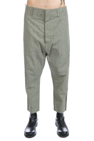 DEEPTI MEN CROPPED LOW CROTCH TROUSERS